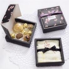 1 sztuk drukowane pudełka mydło wyrabiane ręcznie ciasto cukierki pudełko ręcznik pudełko do pakowania odzieży (bez wstążki/naklejki)