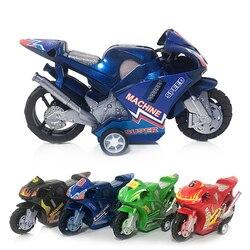 Novo crianças crianças de plástico puxar para trás carro praia quatro rodas modelo da motocicleta do bebê crianças brinquedos educativos presentes divertidos brinquedos