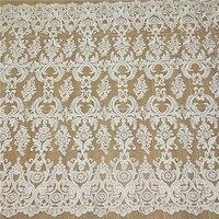 New high grade mesh material Fashion embroidery tissu Wedding dress making DIY fabric