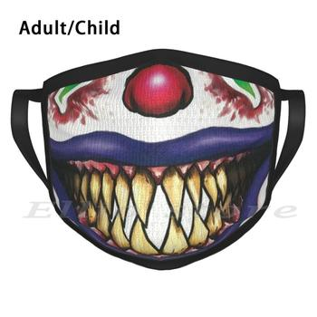 Joker Adult Kids Anti Dust DIY Scarf Mask Smile Scaly Clown Mask image