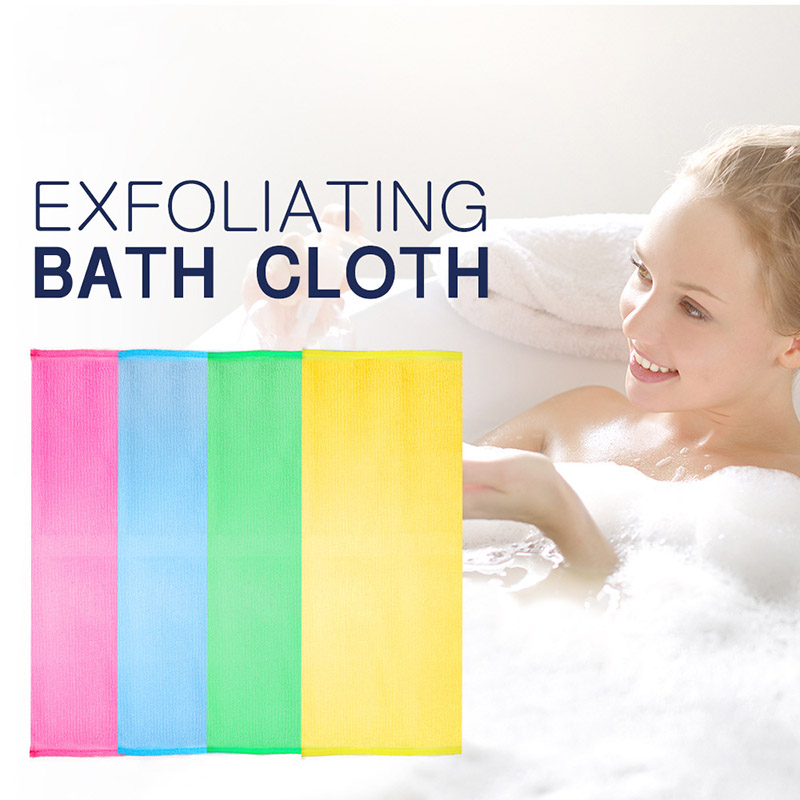 Shower Exfoliating Back Scrubber Men Women Long Bath Towel Deep Clean Skin @ME88