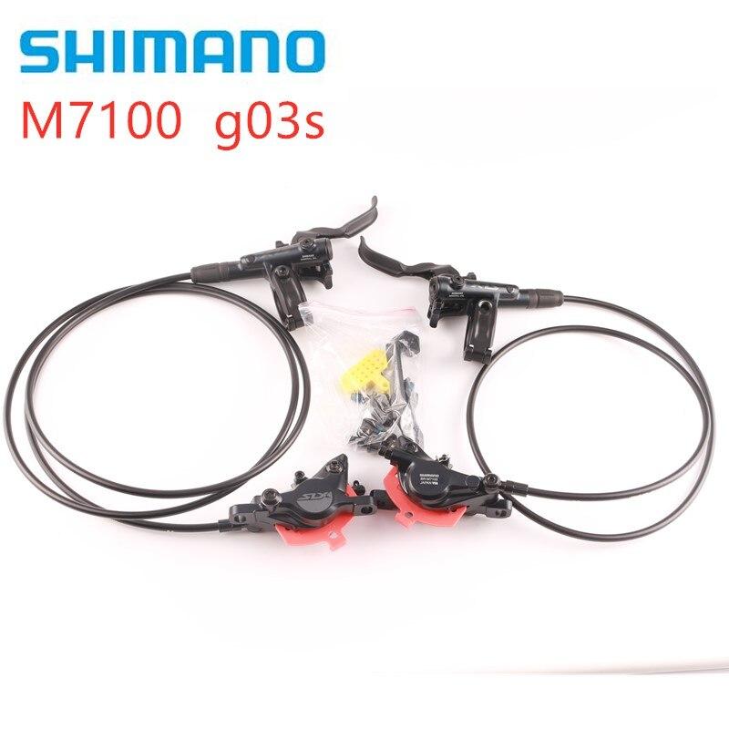 시마노 deore slx m7000 m7100 브레이크 산악 자전거 유압 디스크 브레이크 mtb m7100 900mm 1700mm g03s j04c j02a j03a 패드