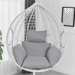 Appeso Sedia Amaca Oscillante Giardino Esterno Morbido Cuscino del Sedile 220KG Dormitorio Camera Da Letto Appeso Sedia con Cuscino