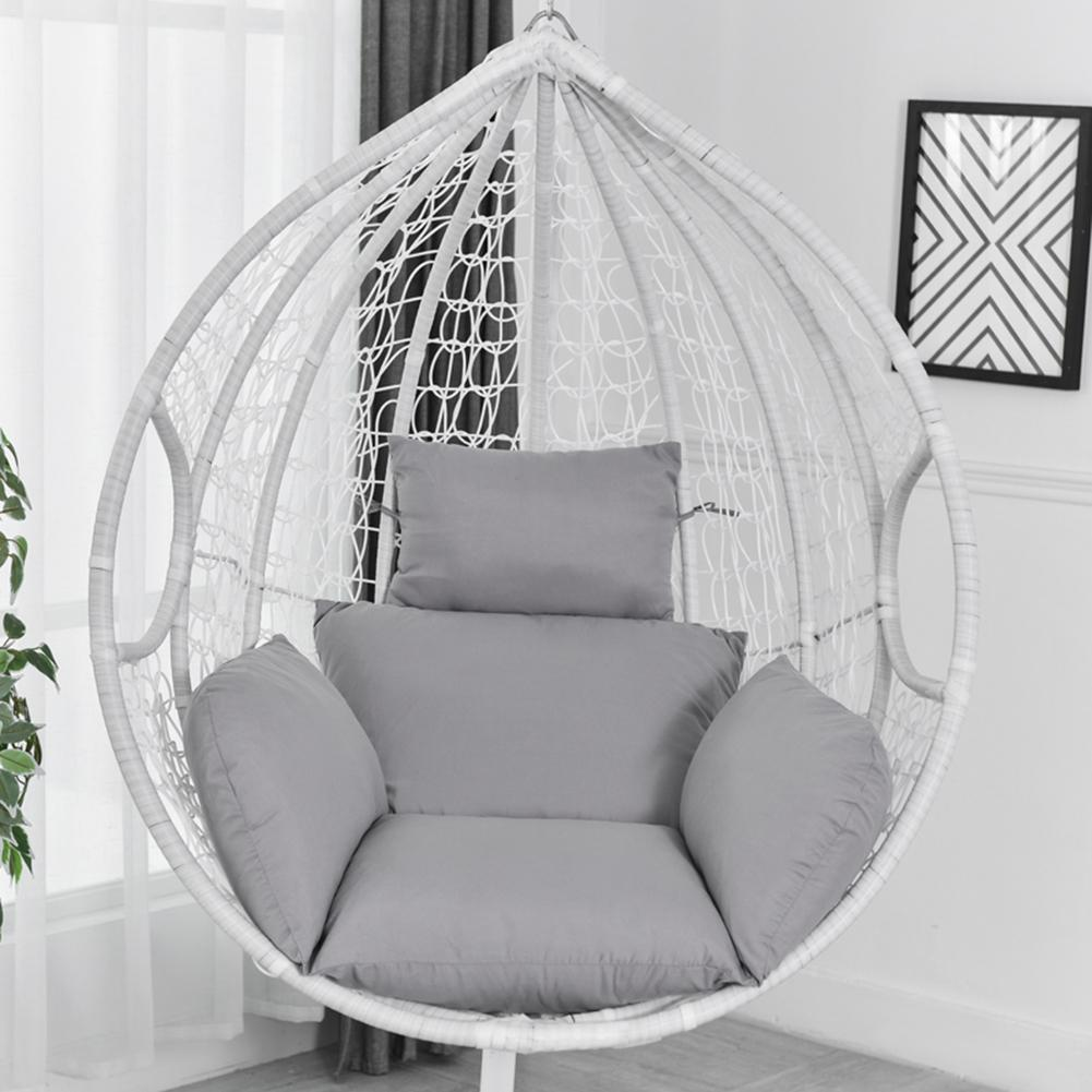 Hanging Hammock Chair Swinging Garden Outdoor Soft Seat Cushion Seat 220KG Dormitory Bedroom Hanging Chair Back with Pillow(China)