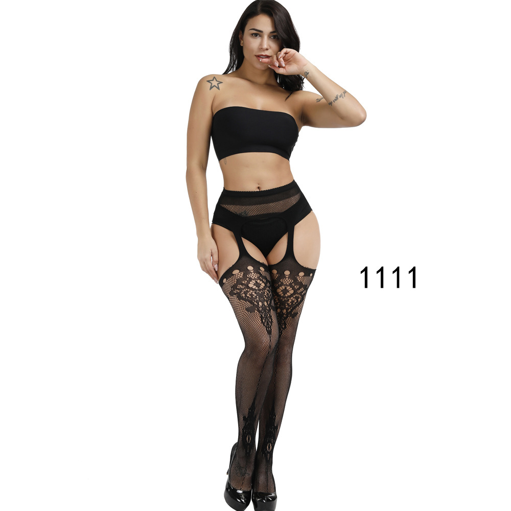 Women Sexy Lingerie Stripe Elastic Stockings Transparent Black Fishnet Thigh Sheer Tights Embroidery Pantyhose Hot 2020 Summer