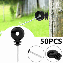 цена на VOGVIGO 50pcs Electric Fence Offset Ring Insulator Fencing Screw In Posts Wire Safe Agricultural garden supplies accessories