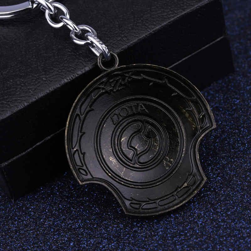 Новое поступление Dota 2 Immortal Champion брелок для ключей в форме щита Dota2 брелок автомобильный брелок TI 5 Aegis of Champions кулон ювелирные изделия