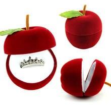 Бархат Свадебное Кольцо Серьги Кулон Дисплей Ювелирные Изделия Box Новый Подарок