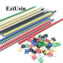 90 шт./лот 2,54 40 Pin 1x40 Однорядный мужской Разъемный штыревой разъем полосы и перемычки блоки для Arduino красочные 2,54 мм