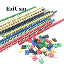 90pcs/lot 2.54 40 Pin 1x40 Single Row Male Breakable Header Connector Strip & Jumper Blocks for Arduino Colorful 2.54mm