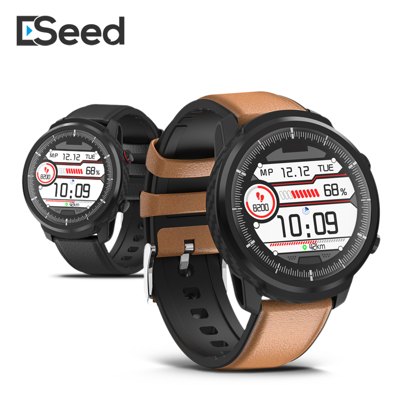 ESEED <font><b>Smart</b></font> <font><b>watch</b></font> <font><b>men</b></font> <font><b>L5</b></font> plus L3 <font><b>IP68</b></font> waterproof full touch screen long standby smartwatch Heart Rate Leather band <font><b>watch</b></font> image