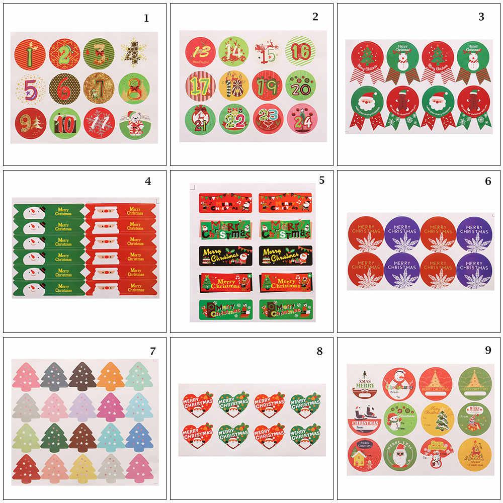 5Pc Kerst Claus Kerst Herten Zelfklevende Afdichting Stickers Briefpapier Gift Decoratieve Bakken Afdichting Leuke Afdichting Sticker