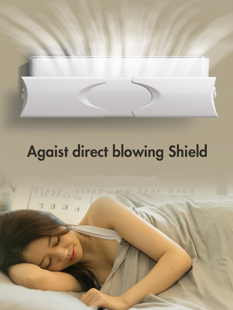 Air Conditioner Wind Shield Anti-Direct Blowing Tuyere Cover Wind Board Wall Hanging Universa Dustproof Windproof Baffle