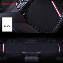 3 sztuk pokrycie siedzenia samochodu przednie tylne siedzenia oddychający ochraniacz mata Pad dla Mercedes Benz W176 W117 W212 W204 C63 CLA GLA A 45 AMG
