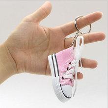 Mini chaussures en toile pour femmes, porte-clés, bijoux à la mode, accessoires, cadeau Souvenir