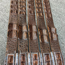 Authentic Real Crocodile Scales Skin Stainless Steel Buckle Men's Waist Strap Man Belts