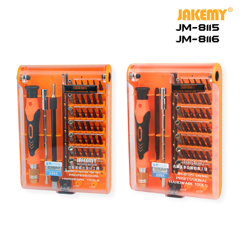 JAKEMY JM-8116 45 pcs in 1 Professional Wholesale S2 Precision Screwdriver Set Customized DIY Repair <font><b>Tool</b></font> for <font><b>Electronics</b></font> Repair image