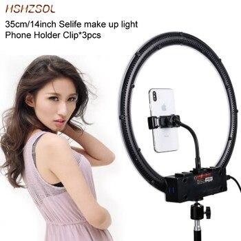 35cm/14inch LED Selfie Ring Light Dimmable LED Ring Lamp Video Camera Phone ring light For Makeup beauty Live YouTube Fill Light