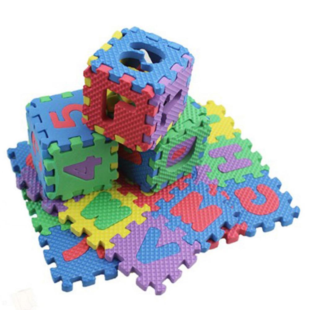 36PCS 6cmx6cm Foam Floor Mats Children's Cartoon Alphanumeric Crawling Baby Waterproof Puzzle Kinderen Alfabet