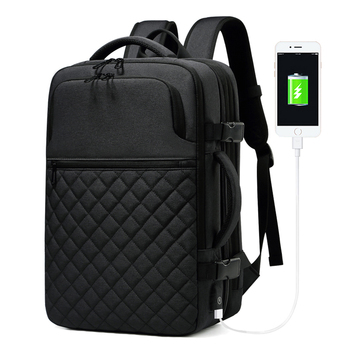 Fashion Men's Business Laptop Backpack Large Capacity Casual Travel Waterproof USB Charging Laptop Backpack Student School Bags