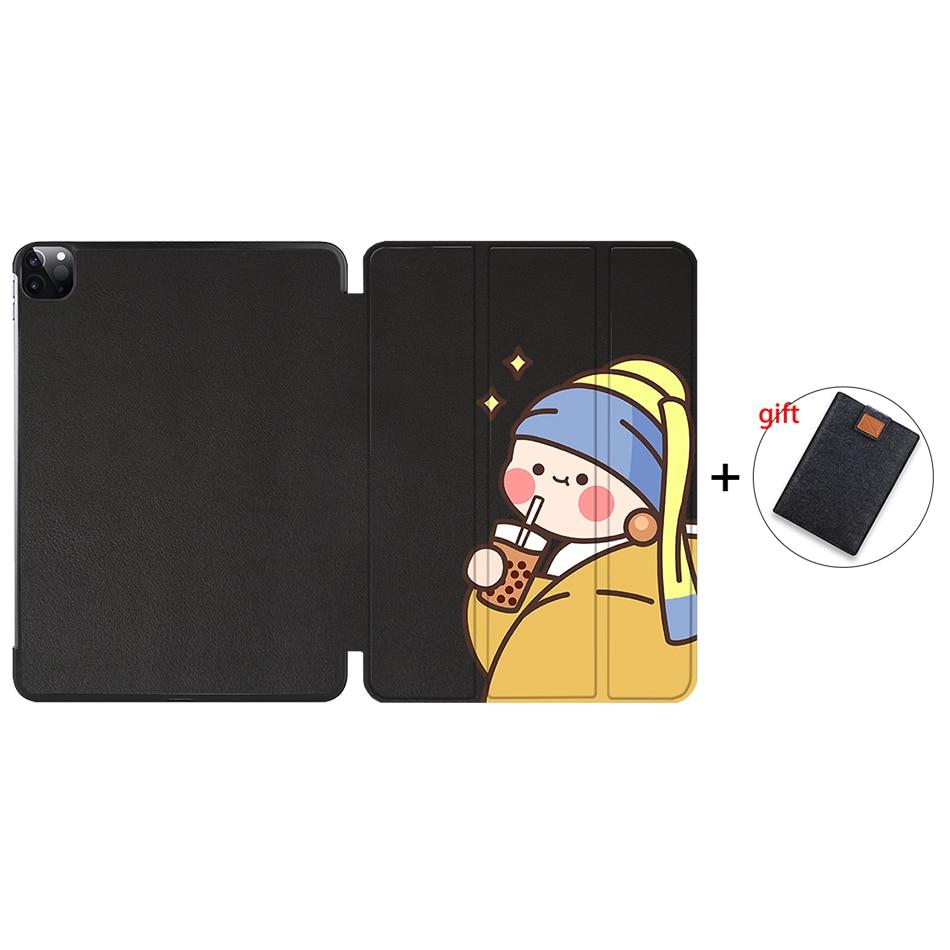 IP17 Khaki MTT 2020 Case For iPad Pro 12 9 3rd 4th Generation 2018 PU Leather Flip Stand