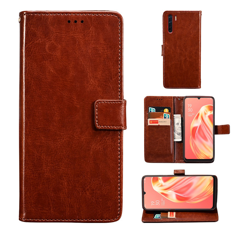 Leather <font><b>Case</b></font> For Coque <font><b>OPPO</b></font> A8 A12 E Flip <font><b>Case</b></font> <font><b>OPPO</b></font> A31 A52 A72 A92 S <font><b>A5</b></font> A9 2020 <font><b>Wallet</b></font> Men Cover Phone Bag Coque <font><b>Oppo</b></font> A91 Etui image