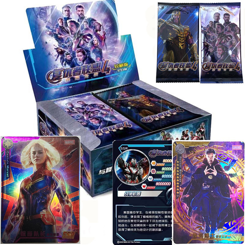 Avengers End Board Game Shining Cards Table Card Flash Collections Marvel Legends Figure Super Heroes 240pcs/box