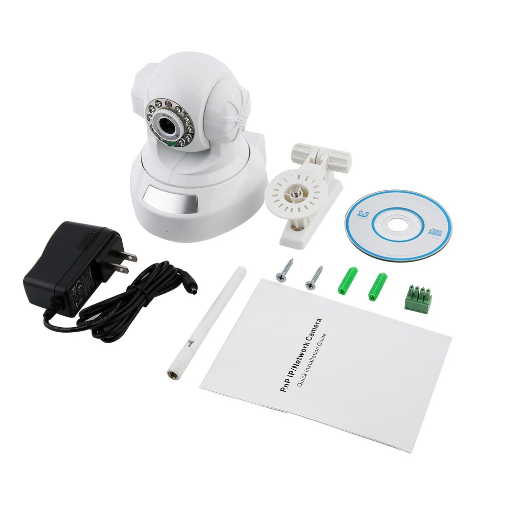 Wireless Camera IP Camera With Cradle Head High Defiinition Panoramic Wifi Camera Wifi White Audio Network Camera