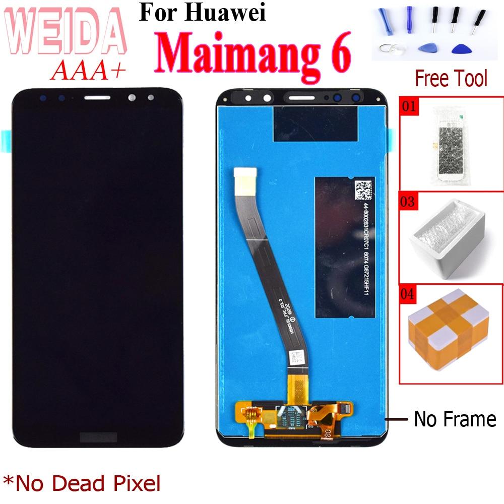 """WEIDA 5,9 """"LCD para huawei Maimang 6 LCD para huawei Nova 2i pantalla táctil pantalla 5,9"""" para huawei Nova 2i LCD replacement"""