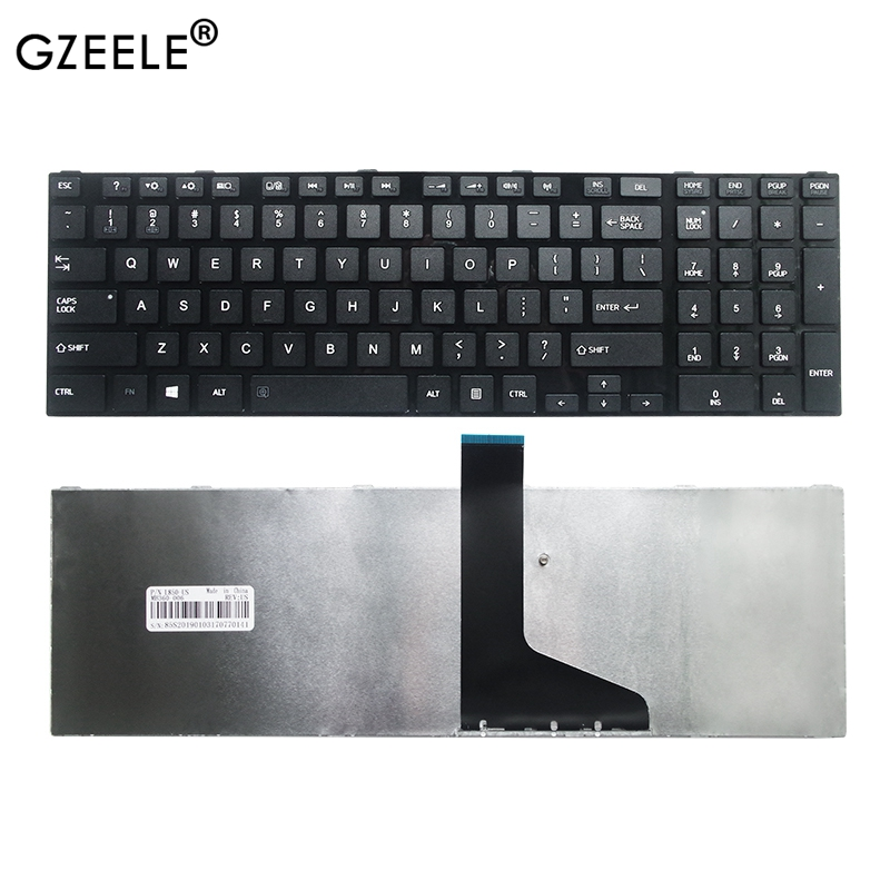 GZEELE NEW Laptop Keyboard For TOSHIBA For SATELLITE C850 C850D C855 C855D L850 L850D L855 L855D L870 L870D US Notebook Keyboard