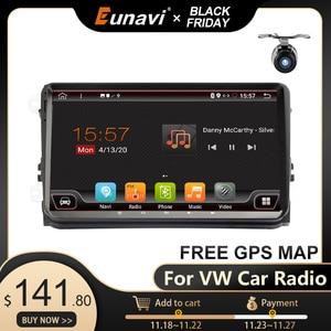 Image 1 - Eunavi 2 Din samochód Radio Stereo multimeida dla VW Passat B6 CC Polo GOLF 5 6 Touran Jetta Tiguan Magotan siedzenia z systemem Android GPS nie ma DVD