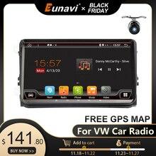 Eunavi autoradio multimédia Android, GPS, sans DVD, 2 Din, stéréo, pour voiture VW Passat B6 CC Polo GOLF 5/6, Touran Jetta, Tiguan Magotan, Seat