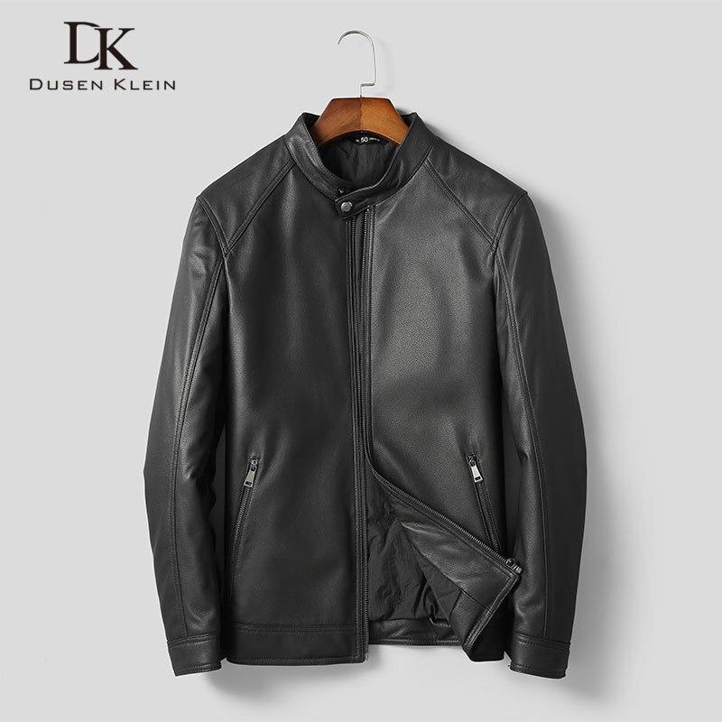 Men Genuine Leather Jackets Leather Down Coats Winter Warm Short Coat Sheepskin+Duck Down 5XL 1960