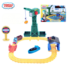 цена на Thomas and friends Original the Blanche at the dock Railway Track model Boy Gift Model train Toys For boys truck toy diecast