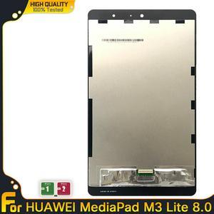 Original 10.1 m3 para huawei m3 lite 8 CPN-W09 CPN-AL00 para huawei m3 lite 10 BAH-AL00 display lcd de toque digitador da tela montagem