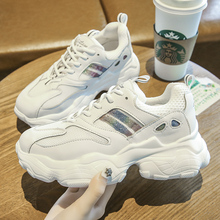 2019 New Fashion Chunky Sneakers Women Shoes Silver Trendy Platform Casual Female Dad Trainers Basket femme