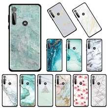Textura mármore de mármore caso telefone para motorola g8 power g9 mais jogar g stylus um hyper e6s borda 5g fusão volta capa coque celular