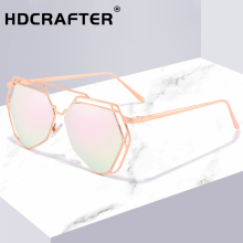 Unique Geometric Shield Sunglasses Women Mirror Pink Classic