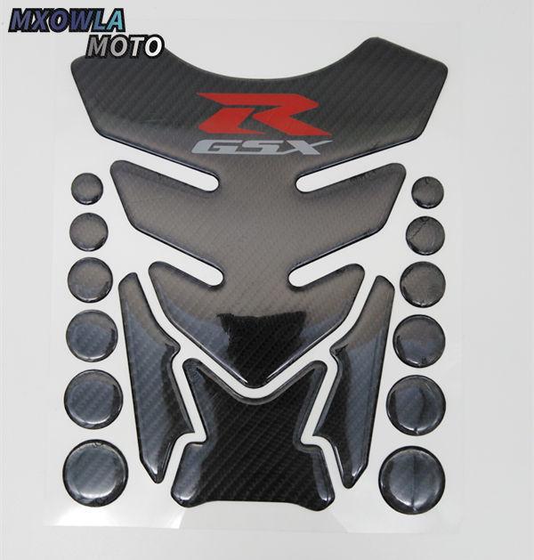 Motorcycle GSX-R Tank Cap Pad Front End Upper Top Clamp Carbon Sticker Decal Set For Suzuki GSXR750 600 K6 K8 2006-2010