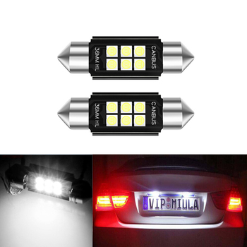 2x LED CANbus Dome Festoon 3030 Error free License Number Plate Light Bulbs For BMW E39 E36 E46 E90 E60 E30 E53 E70 image