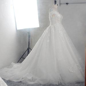 Image 2 - RSW1526 Off Shoulder Dress Vestido De Novia Princesa Lace Beaded Wedding Dress Bridal Gowns