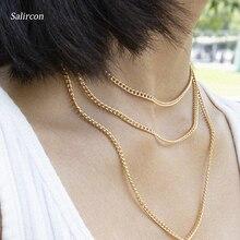 Salircon Charm Multi Layer Choker Necklace 2019 Gold Silver Geometric Alloy Heart Shape LOVE Letter Pendant Necklace Jewelry цена и фото
