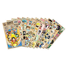 12pcs/lot One Piece Anime Stickers Classic Toys Book Skateboard Doodle Toy Stickers