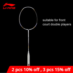 Li-Ning Turbo Charging 7II TD Badminton Racket Single Racket li ning LiNing Racquet Professional Sports Accessory AYPM318 ZYF242