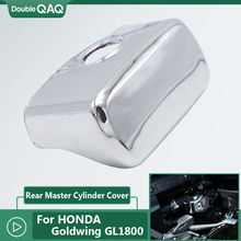 cnc left valve cover crankcase crank case for honda goldwing 1800 gl1800 2001 2013 aluminum alloy chrome plating High Quality Motorcycle Chrome Rear Brake Master Cylinder Cover for Honda Goldwing GL1800 F6B GL1800 2018 2019 2020