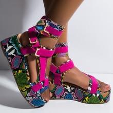2020 Platform Sandals Women Shoes Summer High Heels Ladies C