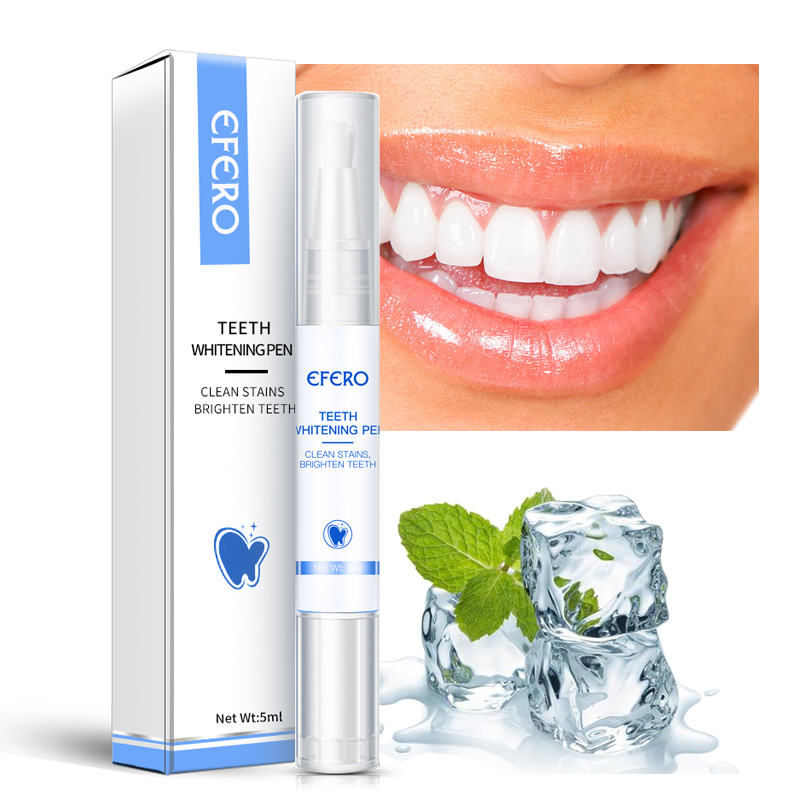 EFERO Teeth Brightening Pen Oral Hygiene Essence Teeth Whitening Serum Remove Plaque Stains Cleaning Smoke Stains Yellow Teeth