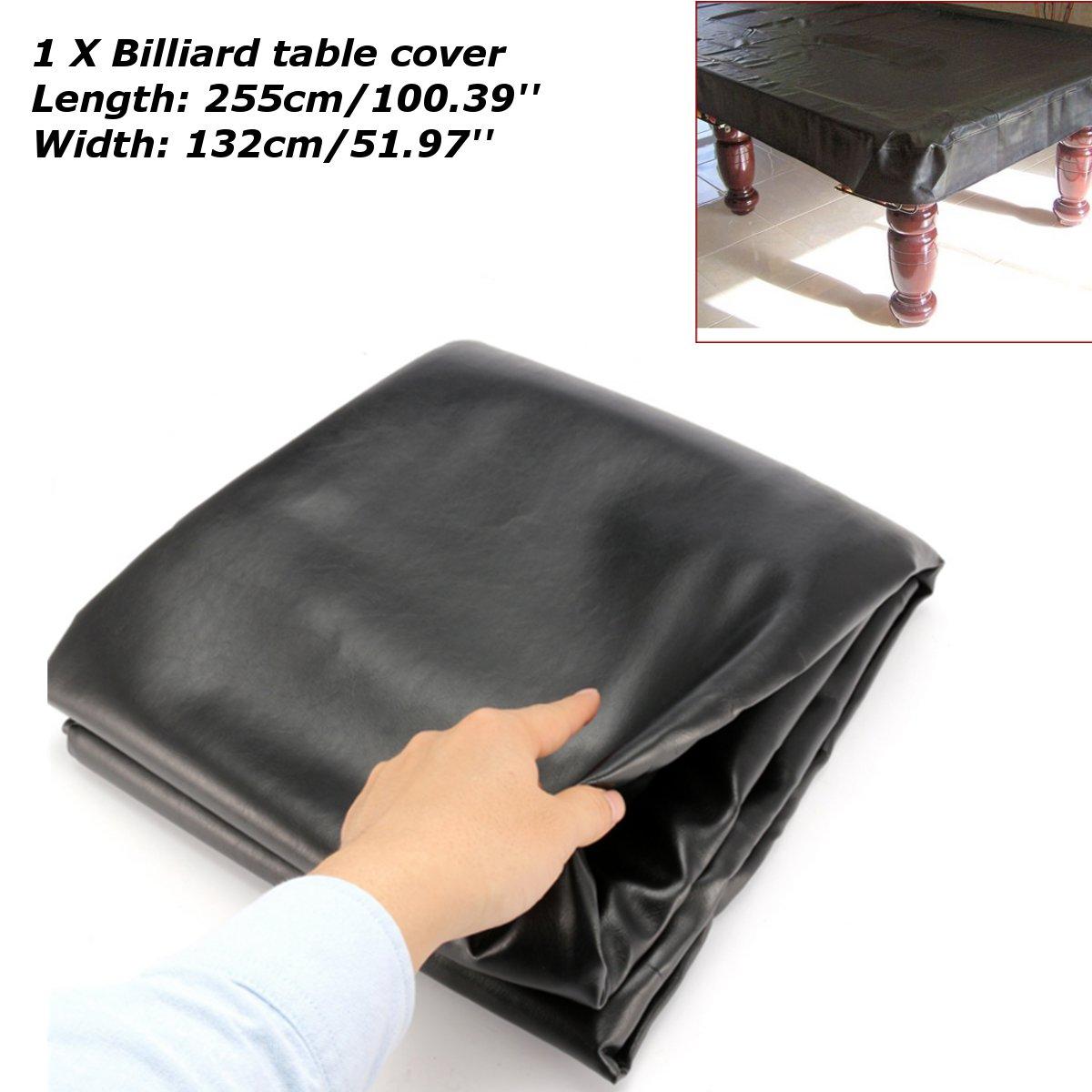 255*132cm couverture de billard de Table universelle étanche à la poussière en caoutchouc résistant à la déchirure pour Table de billard Rectangle nappe de couverture de billard