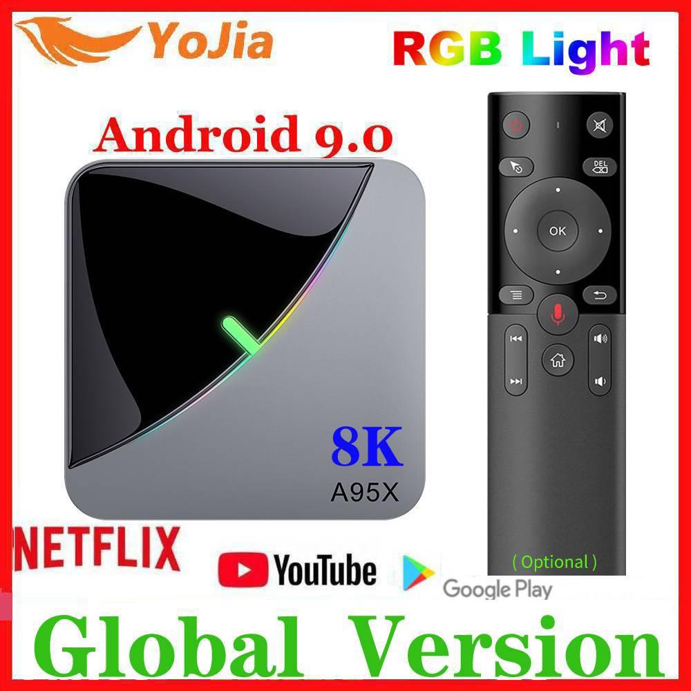 2020 Smart 8K RGB Light Android 9.0 TV BOX Amlogic S905X3 A95X F3 Air Max 4GB RAM 64GB ROM A95X TVBox Media Player Dual Wifi