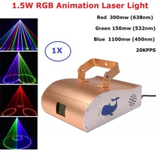 1550mw RGB Laser Projector Professional Stgae Lighting Effect DMX 512 Controller Scanner Dj Equipment Party Light Music Laser cheap Yuer Stage Lighting Effect DMX Stage Light P522 90-240V Professional Stage DJ RGB Animation Laser Light Green 150mw (532nm)